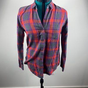 Lucky Brand Grey & Red Flannel